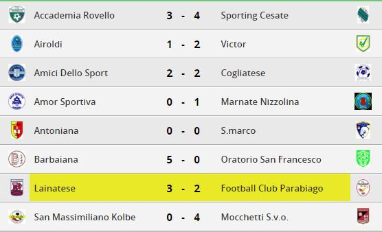 parabiago-calcio-juniores-risultati-23-giornata