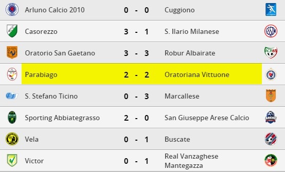 parabiago-calcio-prima-squadra-risultati-2-giornata