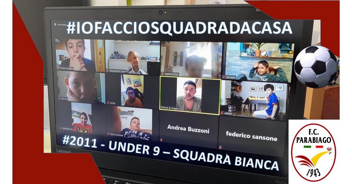 Emozionante incontro video degli Under 9 squadra Bianca