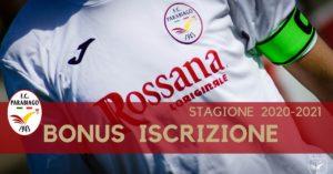 Parabiago calcio bonus iscrizioni 2020-2021