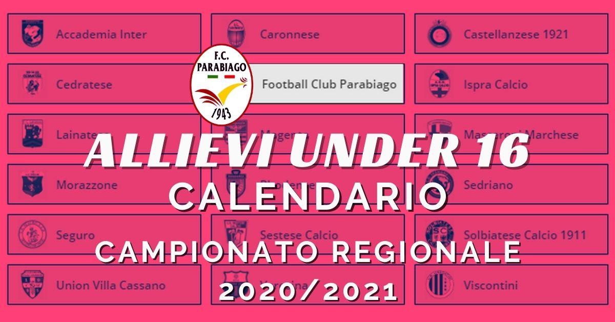 Under 16 REGIONALI – Campionato 2020-2021