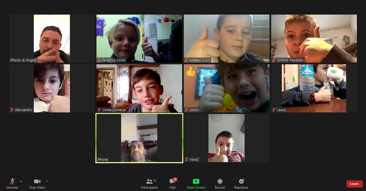 Incontro virtuale per gli Under 10