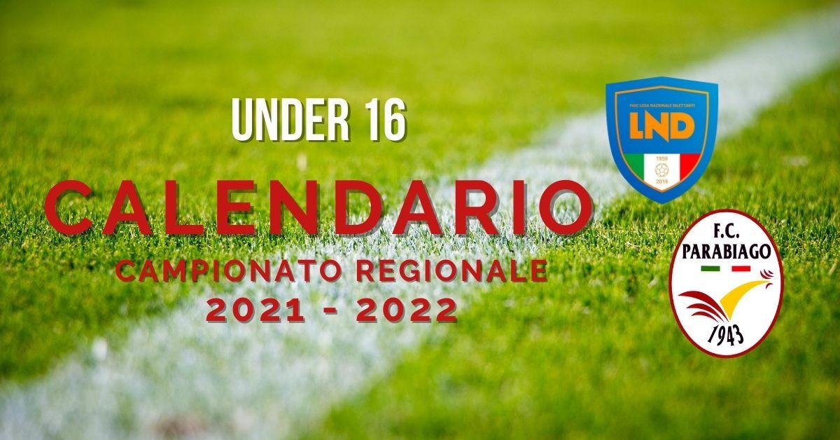 Under 16 Calendario Campionato Regionale